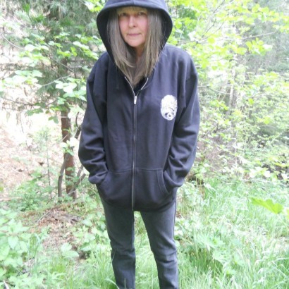 Hoodie Front Cecilia in the woods 8.2013